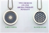 Torus Vortex/Flower of Life Aroma Therapy Double Sided Pendant