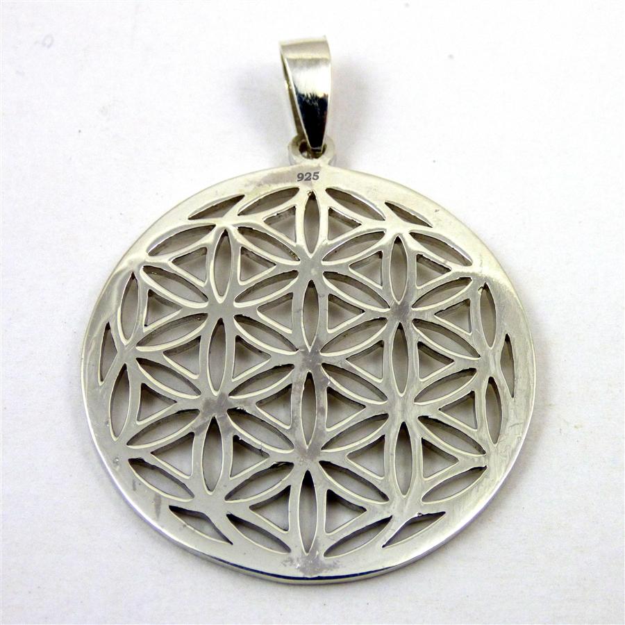 Flower of life pendant sterling silver alternative views aloadofball Choice Image