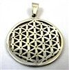 flower of life pendant (detailed) sterling silver