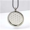 SSFOLP-16 Silver Plated Stainless Steel Flower Of Life Pendant with Chain
