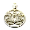 lotus flower pendant sterling silver