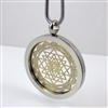 SSSYP-20 Silver Plated Stainless Steel Shree Yantra Pendant with Chain