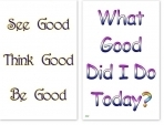 WA-232 See Good, Think Good, Be Good - What Good Did I Do Today? - Wallet Altar