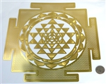 YA-1248 Inch Shree Yantra 18K Gold Plated