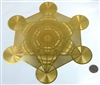 YA-1252 18 karat gold plated metatron's cube