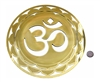 YA-1254 Om Mandala 18 karat gold plated flower of life wall art