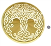 YA-1260 Celtic Tree of Life 18 karat gold plated flower of life wall art