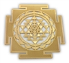 18 karat gold plated shree yantra