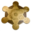 18 karat gold plated metatron's cube