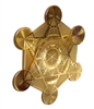 18 karat gold plated metatron's cube fridge magnet
