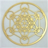 18 karat gold plated metatron's cube cut out design