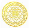YA-648c Inch Shree Yantra 18K Gold Plated