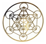 18k 6in Gold plated Metatron cut out Healing Grid