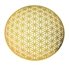 18 karat gold plated 6in Global flower of life wall art