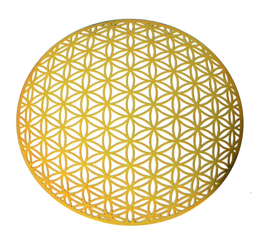 karat gold plated 6in Global flower of life wall art