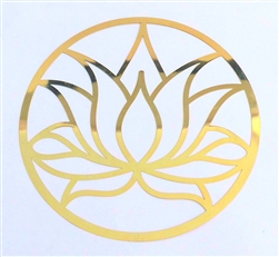 18k 6in Gold plated Lotus Flower Healing Grid