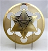 Metatron's Cube Yantra 18 karat gold plated plate