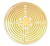 18 karat gold plated labyrinth