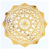 18 karat gold plated dodecahedron