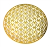 18 karat gold plated Global Flower of life healing grid
