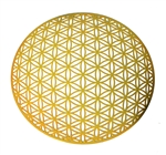 18k gold plated Global Flower of Life Healing Grid