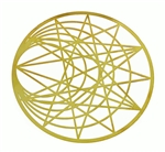 18k gold plated Sun and Moon cut out Healing Grid