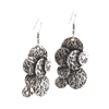 Silver, Industrial, Drop, Medaliion Earrings - Trendy Style