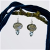 Labradorite and Blue Topaz Sterling Silver Drop Earrings
