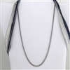 "Stainless Steel Rope Chain 20"" Necklace"