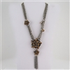 Multi-Strand Silver Necklace with Topaz Beads