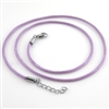 "Lavender Leather 18"" Cord Necklace"