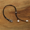"Pearl Lariat ""Y"" Necklace with Sterling Silver Clasp"