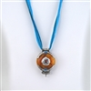 Traditional Tibetan Gau with Coral, Turquoise, Copal Pendant Small