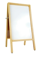 A-Frame Sidewalk Wood White Marker Board