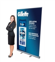 "Retractable Roll Up Banner Stand 47"" Stand Only BOX SET [BOX SET OF 6]"