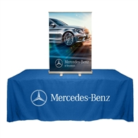 "Table Top Retractable Roll Up Banner Stand 33"" with Vinyl Print"