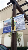 "Double Sided Street Pole Banner Bracket 18"" with (2) 18"" x 24"" Vinyl Banners"