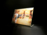 "Acrylic Slant Back Display Sign Holder 6"" x 4"""
