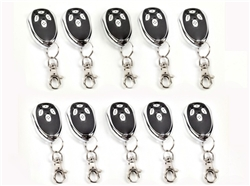 Lot of Ten Remote Control Transmitters for ALEKO AC1400, AR1400, AC2000, AR2000 Gate Opener