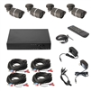ALEKO  AHDK1604H42 8-Channel AVR AHD 720p HD Security System Kit with 4 1.0-Megapixel CCTV Cameras, Black