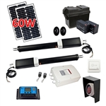 Dual Swing Gate Operator - AS1300 AC/DC - Solar Kit 30W - ALEKO