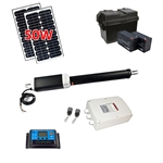 Single Swing Gate Operator - AS450 AC/DC - Solar Kit 20W - ALEKO