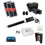Single Swing Gate Operator - AS450 AC/DC - Solar Kit 30W - ALEKO