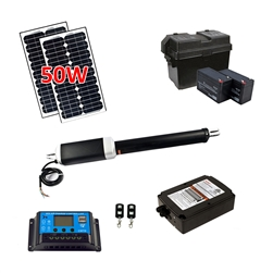 Single Swing Gate Operator - ETL Listed - AS650U - Solar Kit 20W - ALEKO