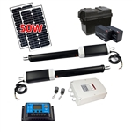 Dual Swing Gate Operator - AS900 AC/DC - Solar Kit 20W - ALEKO