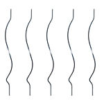 Black Powder Coated Baluster - Double Bend Design - 32 Inches - Pack of 5 - ALEKO