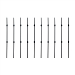 Black Powder Coated Baluster - Double Knuckle Design - 44 Inches - Pack of 10 - ALEKO