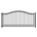 ALEKO® DUBLIN Style Single Swing Steel Driveway Gate 12'