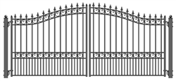 ALEKO® LONDON Style Swing Dual Steel Driveway Gates 12' X 6 1/4' FREE SHIPPING!