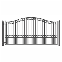 ALEKO® PARIS Style Single Swing Steel Driveway Gate 12' X 6 1/4' FREE SHIPPING!